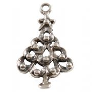 Christmas Tree Sterling Silver Charm